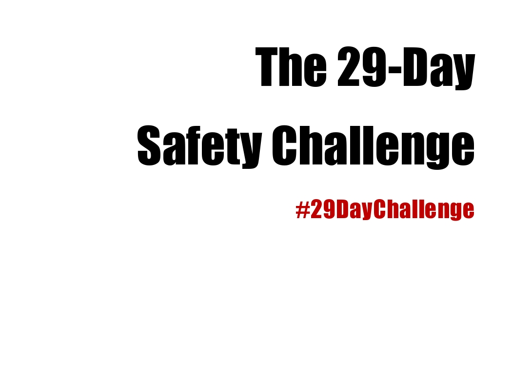 TAKE THE 29-DAY SAFETY CHALLENGE NOW!