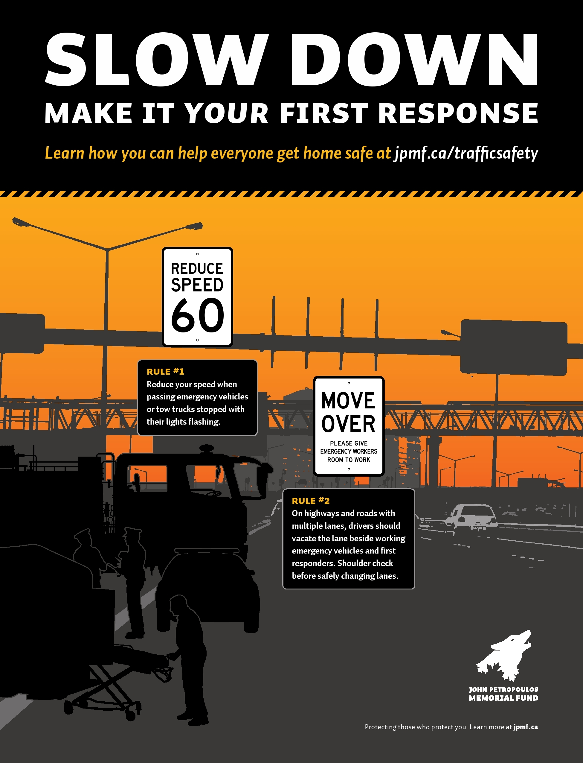 Workplace safety posters - Slow Down Make It Your First Response